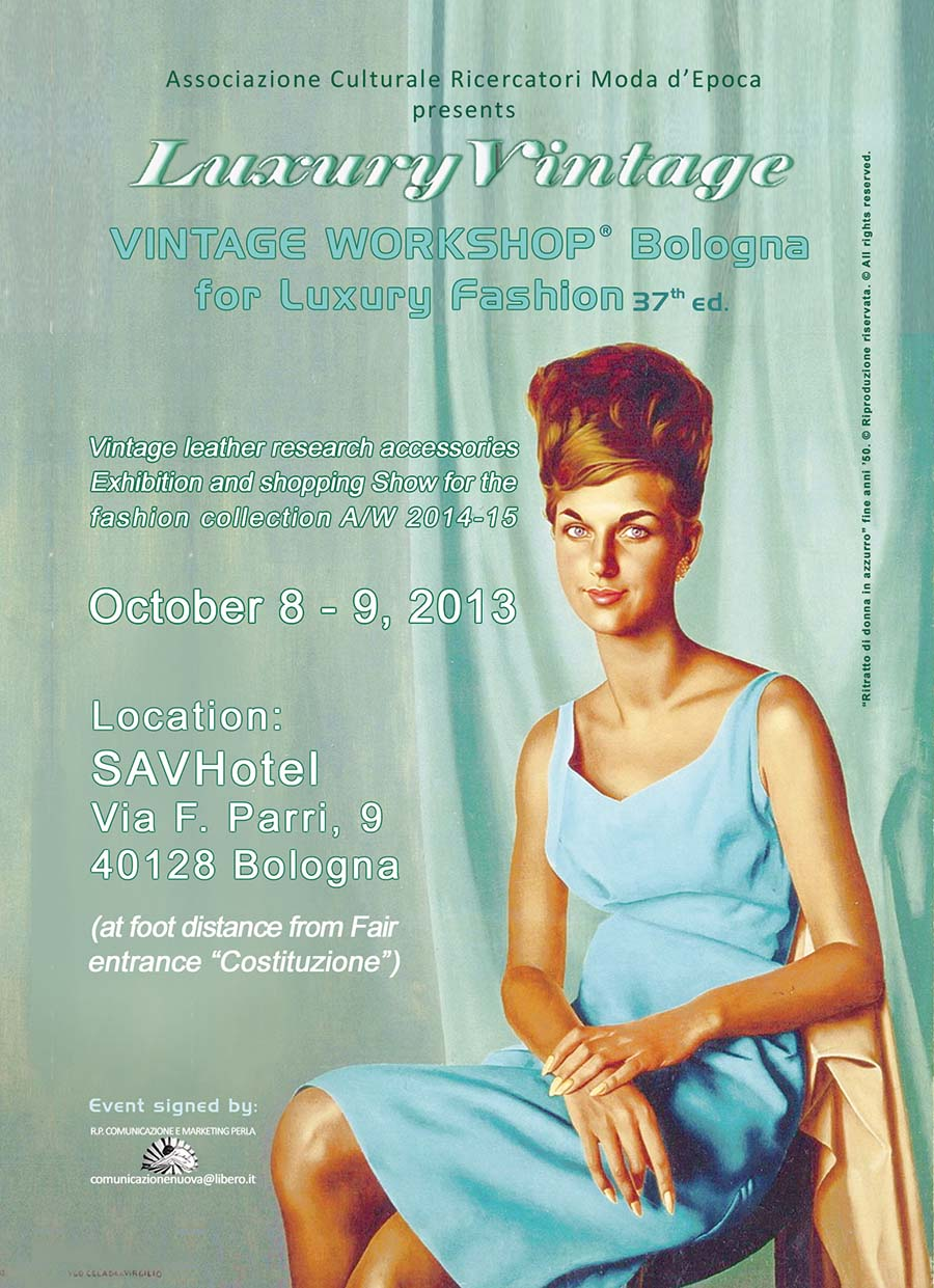 Evento Vintage Workshop Bologna 2013 - Fronte Invito - 37 edizione