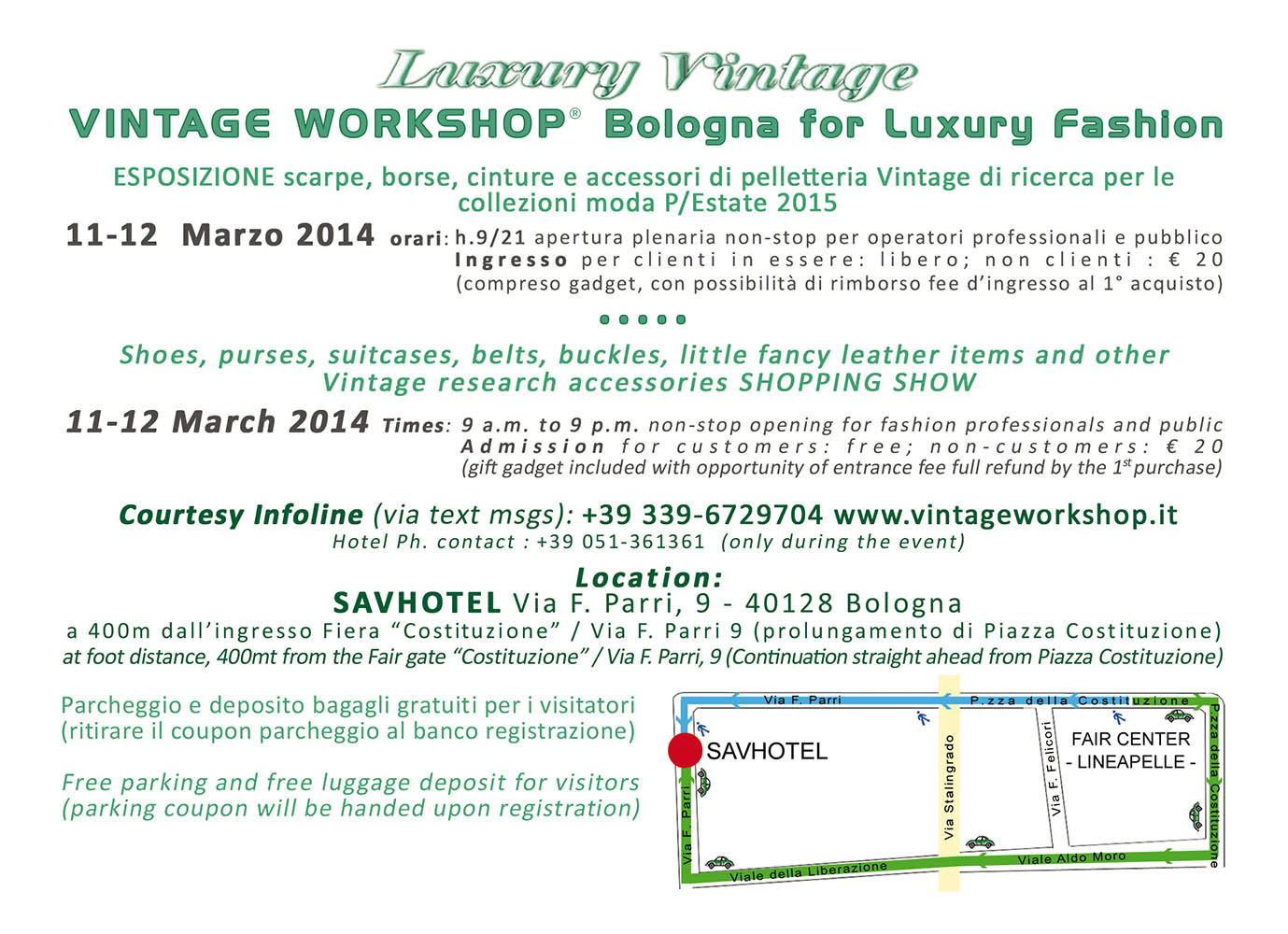 Vintage Workshop Bologna for Luxury Fashion 41 edizione